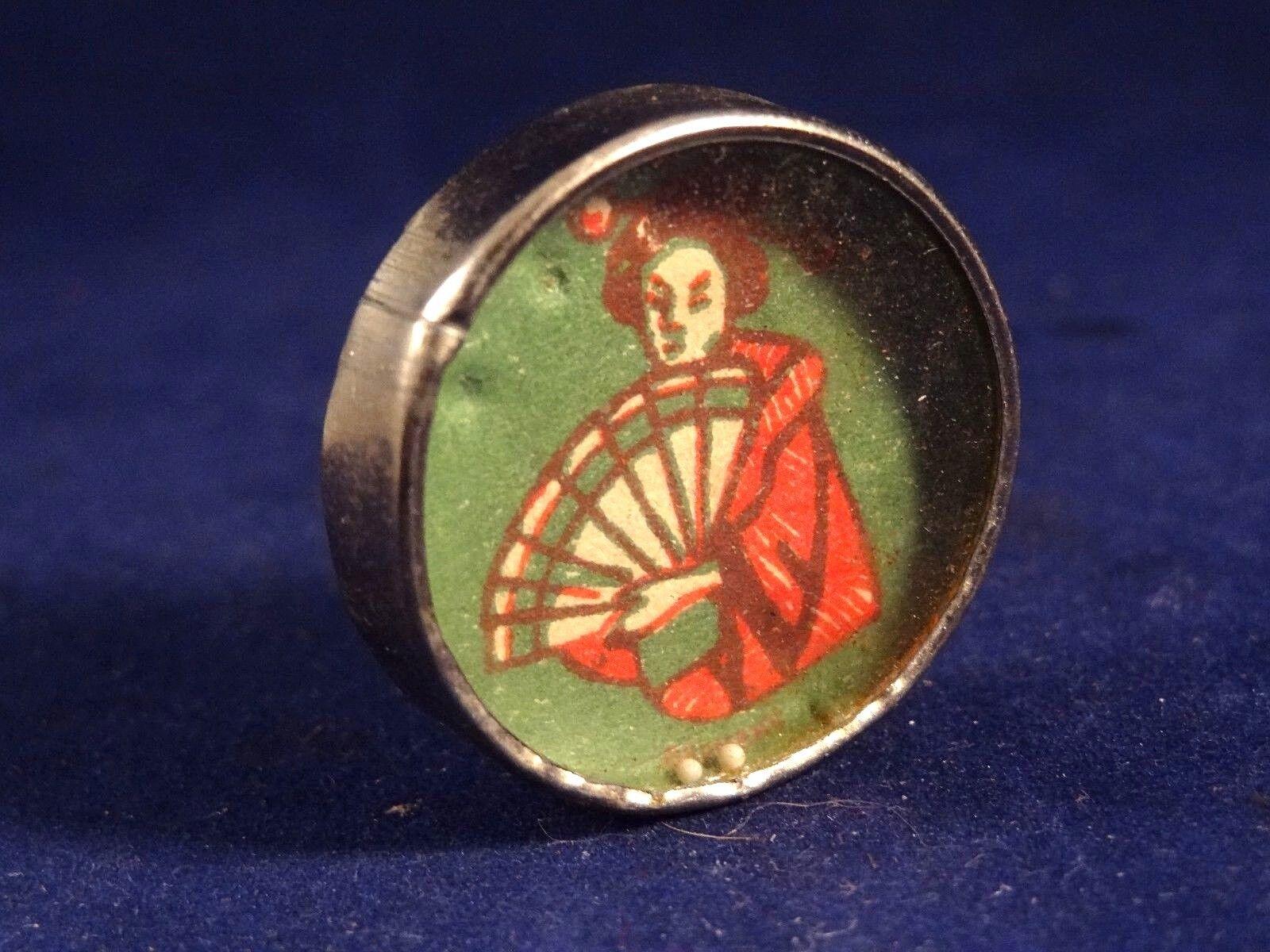 Ancien jeu patience dextérité adresse bille Geisha éventail Germany 1910