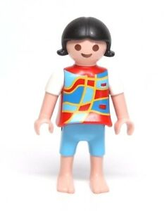 Playmobil figure dollhouse vacation girl child w shorts for Playmobil kinderzimmer 4287