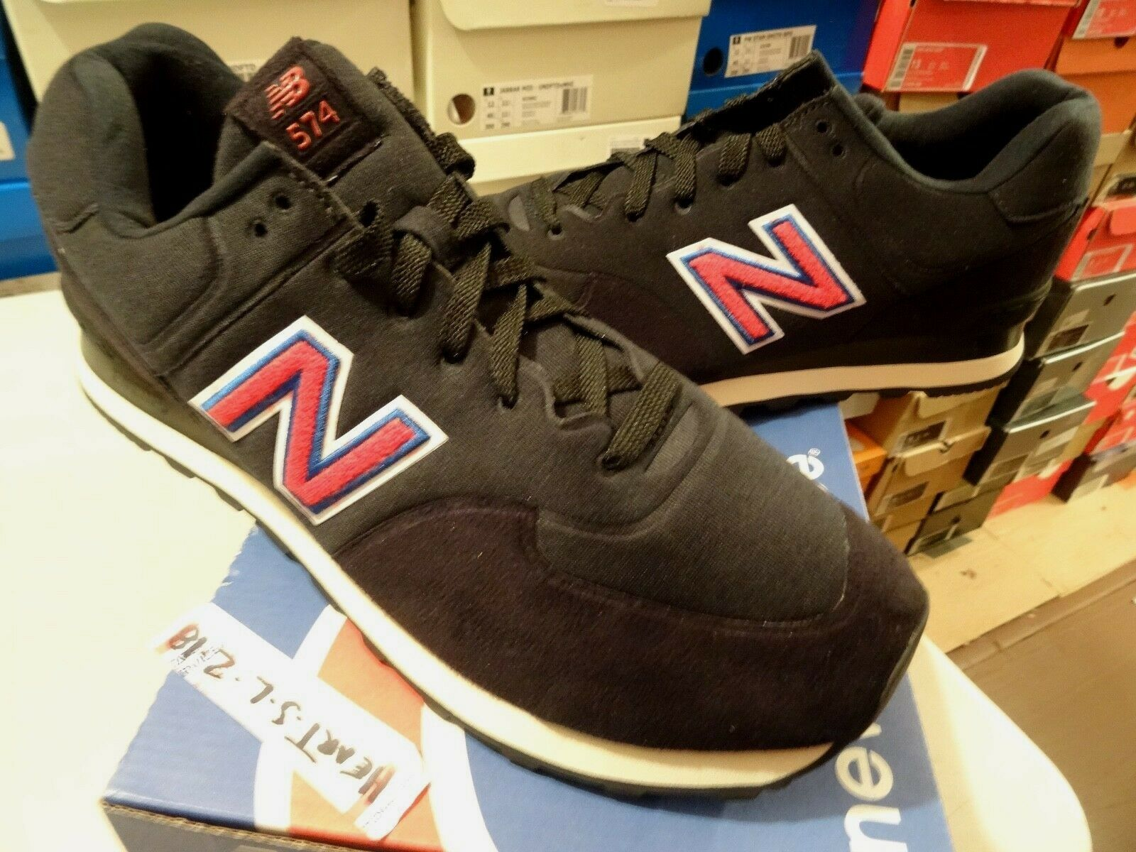 NEW BALANCE MS574UF 574 UNDEFEATED UNDFTD SONIC FLEECE BLK RED blueE KITH SZ 13