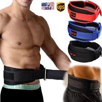 Gym Weight Lifting Belt Waist Back Support Strap Power Dip Training Fitness G2