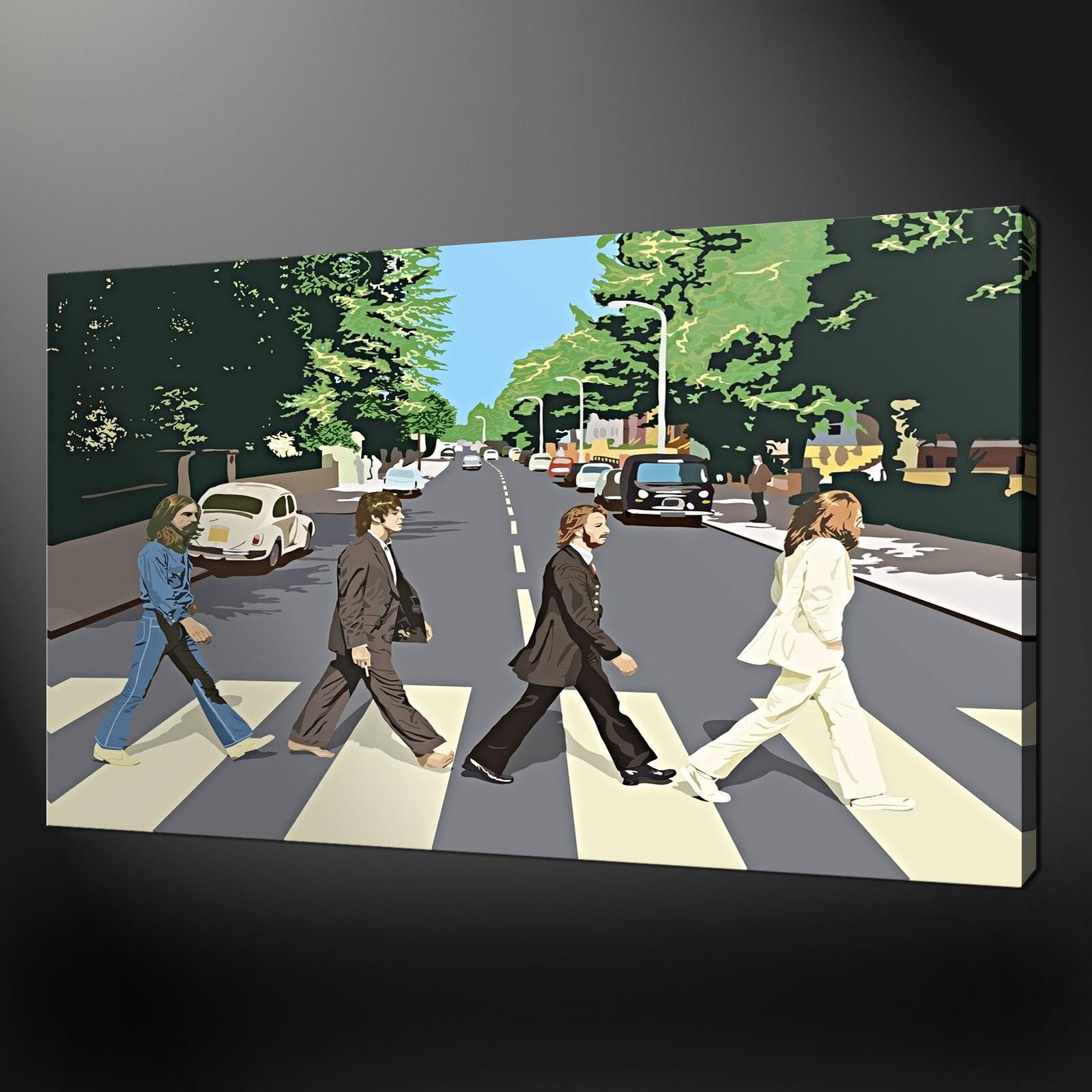 BEATLES Abby ROAD tela muro arte FOTO STAMPA varietà di dimensioni gratis UK P & P