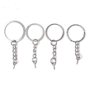100Pcs-Keychain-Rings-with-Chain-and-100-Pcs-Screw-Eye-Pins-Bulk-for-DIY-Crafts