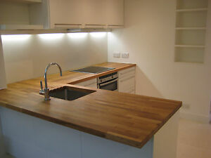 Oak Worktops Solid Wood 1mx620mmx38mm Ideal For Table
