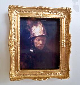 1 12 miniatur bild der mann mit dem goldhelm rembrand ebay. Black Bedroom Furniture Sets. Home Design Ideas