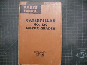 caterpillar manual motor grader 120
