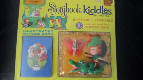 Vintage Liddle Kiddles Storybook Peter Pan Paniddle Doll Sword Story Book Tinker
