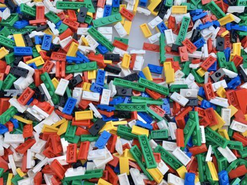 LEGO 1x2 1x4 Blue Red Black Yellow White Green 50 Random Pieces Per Order