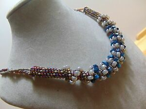 Handmade necklace-beaded necklace-Cellini spiral Necklace-Chelia Jewelry-Choker