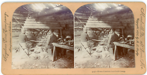 Stereo-Keystone-View-Company-B-L-Singley-Home-Comfort-in-a-Gold-Camp-Vintag