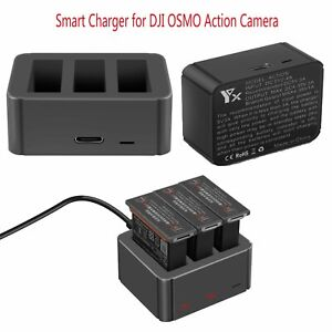 For-DJI-OSMO-Action-Camera-3-Battery-Port-Fast-Smart-Charger-USB-Charging-Cradle