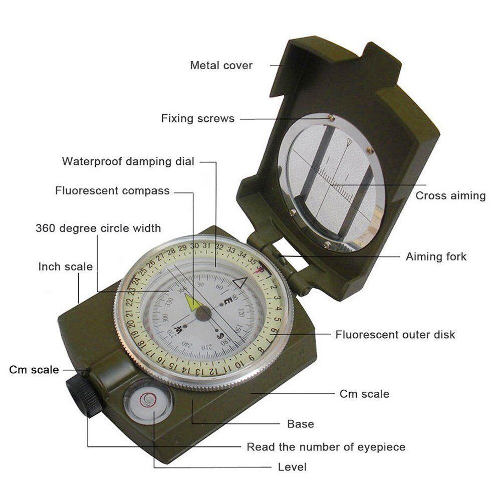 Kompass Professionell Multifunktion Widerstandsfähig Am Wasser für Fahrrad