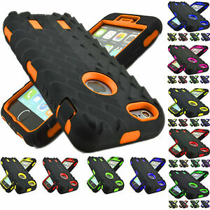 For-Apple-iPhone-XS-8-7-6s-Plus-Rugged-Protective-Hybrid-Hard-Rubber-Case-Cover