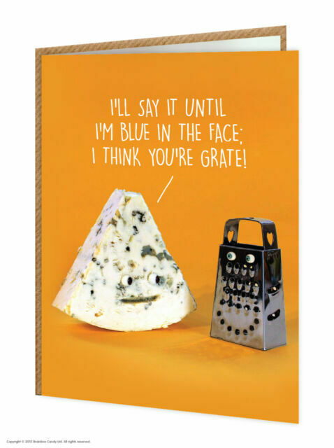 Brainbox Candy Birthday Greetings Card funny cheese novelty cheeky joke humour