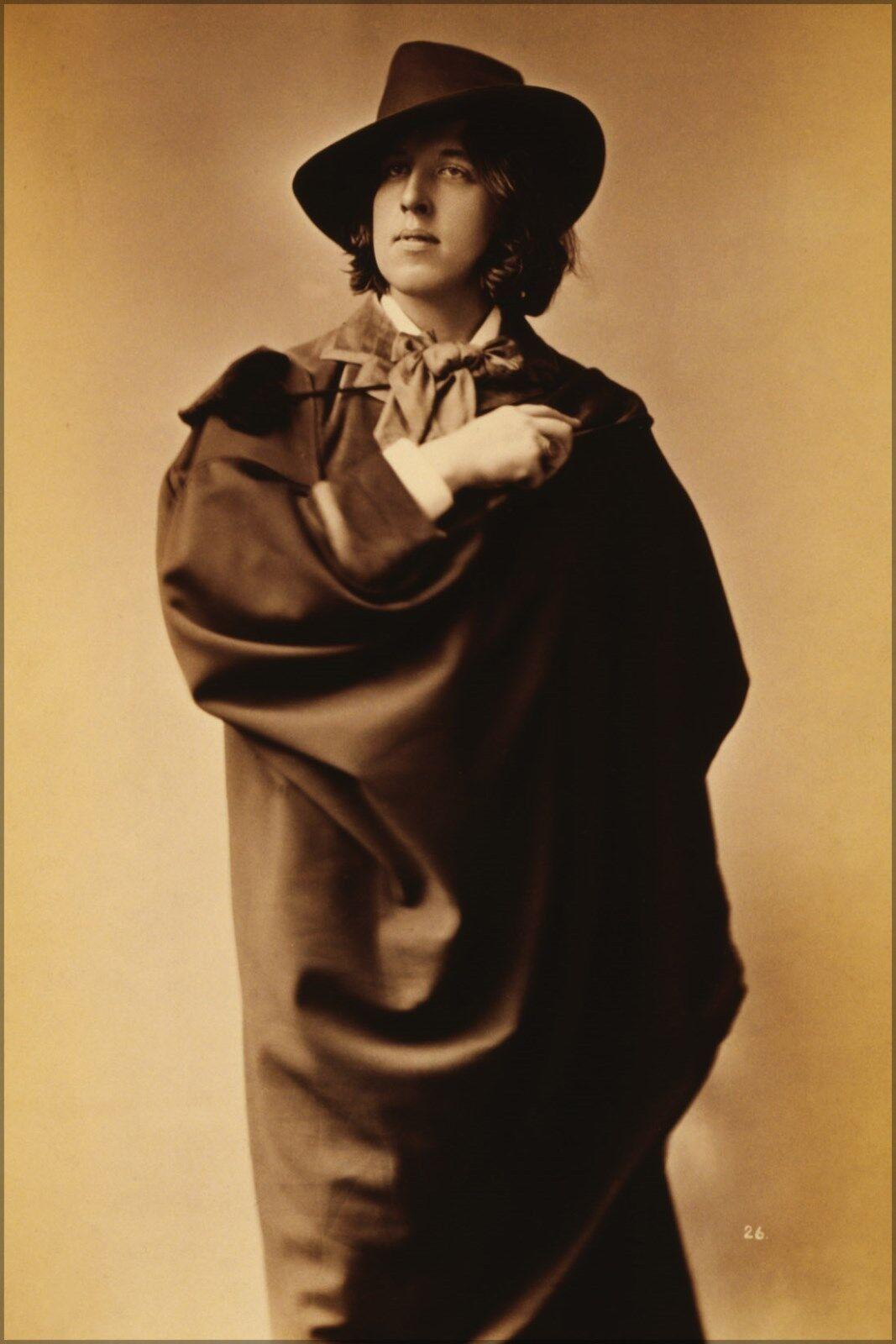 Plakat, Viele Größen; Oscar Wilde, dreiviertel Länge Bild,