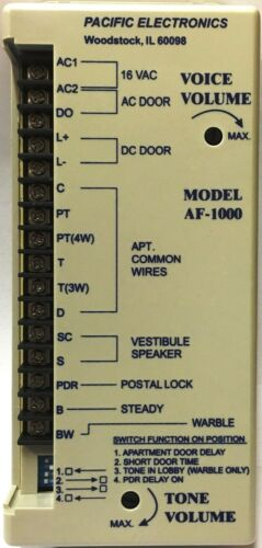 Pacific Electronics Af-1000 Amplifier for intercom systems