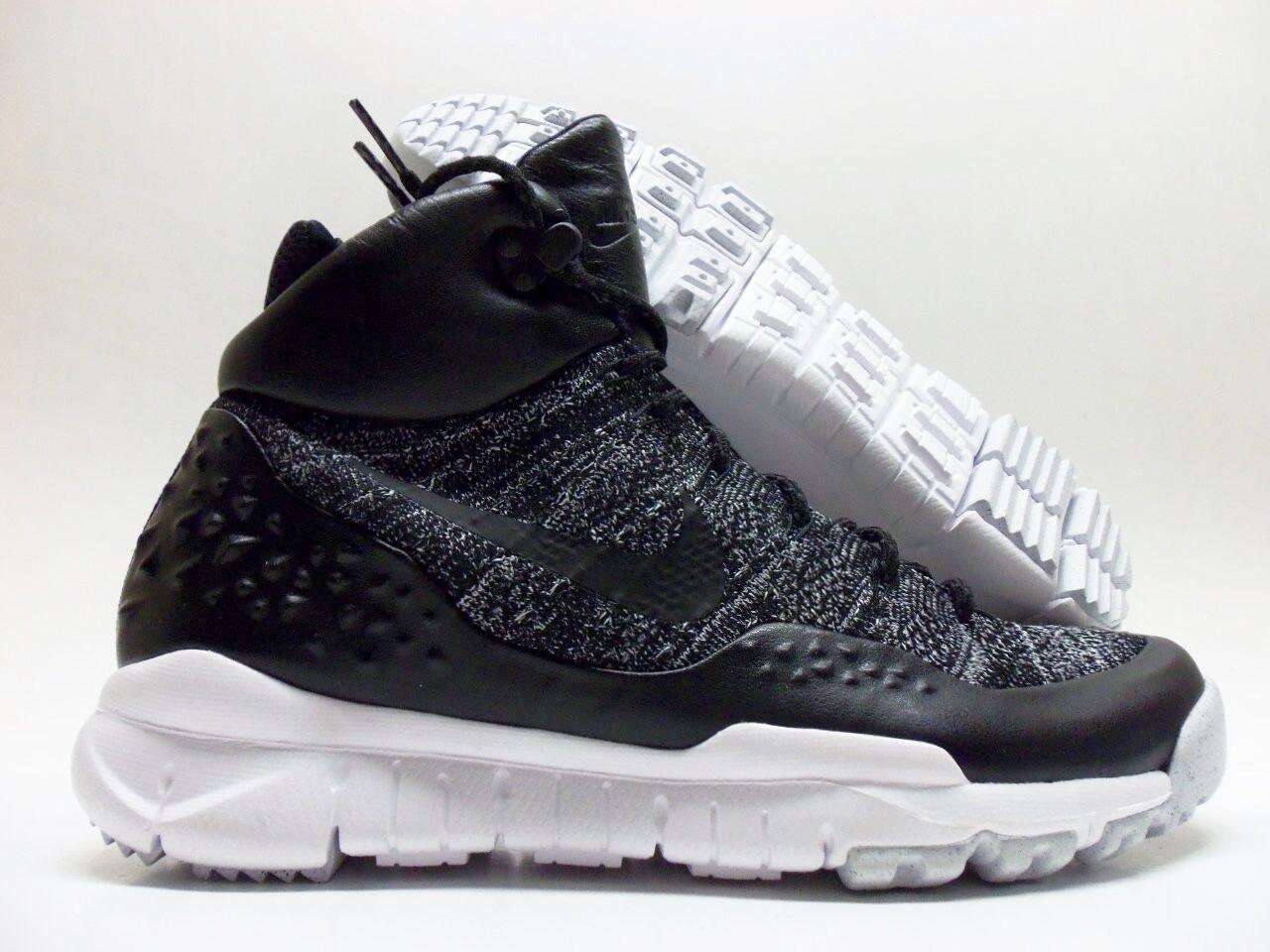 Nike lupinek flyknit oreo nero / bianco dimensioni uomini 9 [862505-001]