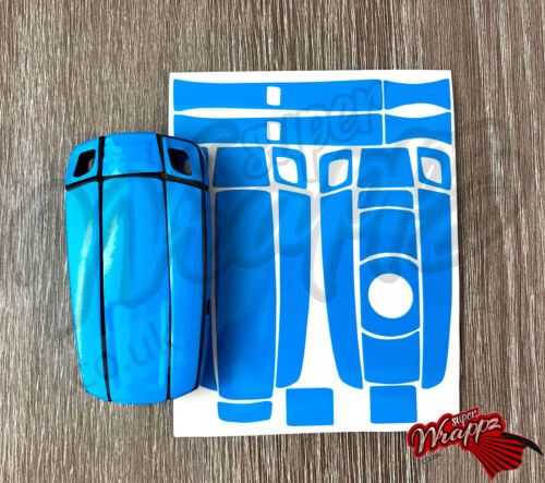 DARK BLUE GLOSS Key Fob Wrap Cover Overlay BMW 1 3 5 6 Series Z4 X1 3 X5 X6 M