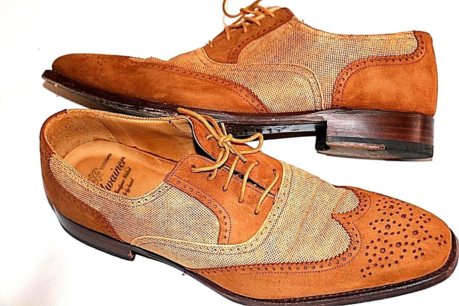 Edel Business Schuhe von Leder CORDWAINER Hand Made Echtes Leder von Gr. 8 f65f04