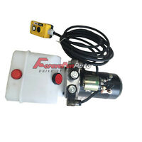 Hydraulic Power Unit Double Acting 12v Dump Trailer - 3 Quart With Remote