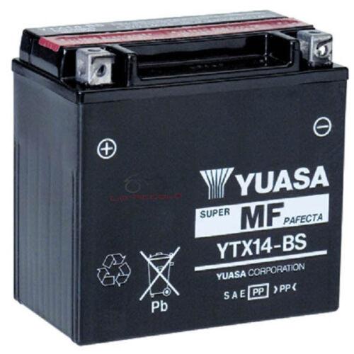 BATTERIA YUASA YTX14-BS 12 V 12 AH KAWASAKI W 650 VN VULCAN 800 KLV 1000
