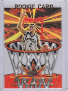 Details About Allen Iverson Rookie Card Net Burners 1996 Basketball Rc Georgetown Hoyas 76ers