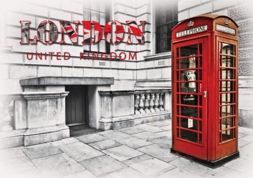 VLIES Tapete Fototapeten Tapeten Stadt London Telefonzelle Rot Foto 14N3131VEXXL