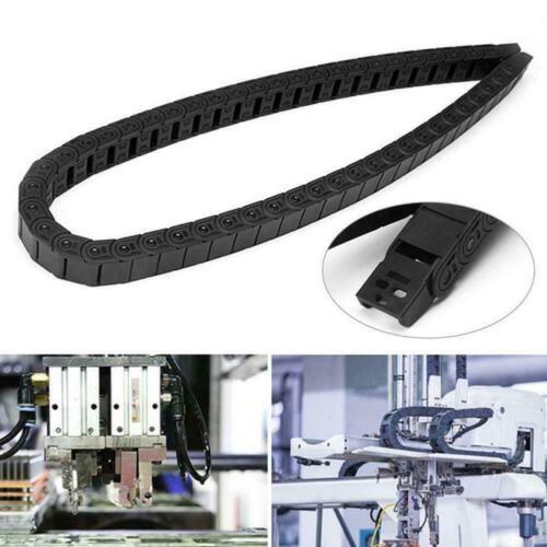 Schwarz nylon energiekette schleppkabel schleppleine draht für cnc router Z7C9