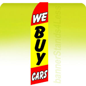 WE BUY CARS Swooper Flag Feather Flutter Banner Sign 11.5' - yf