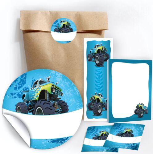 Geschenktüte Lesezeichen Notizblock Gastgeschenk Kindergeburtstag Truck