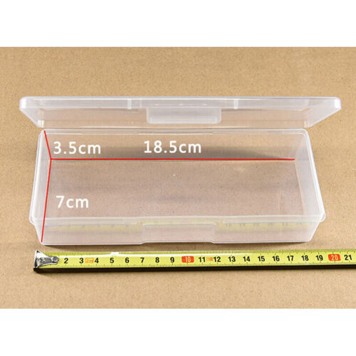 Clear Plastic Storage Box Jewelry Craft Nail Beads Container Organizer Case T.bb