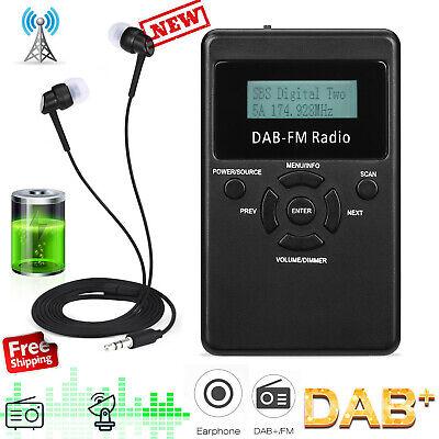 Portable Pocket Personal DAB/DAB+/FM Digital Radio Rechargeable Battery Black UK