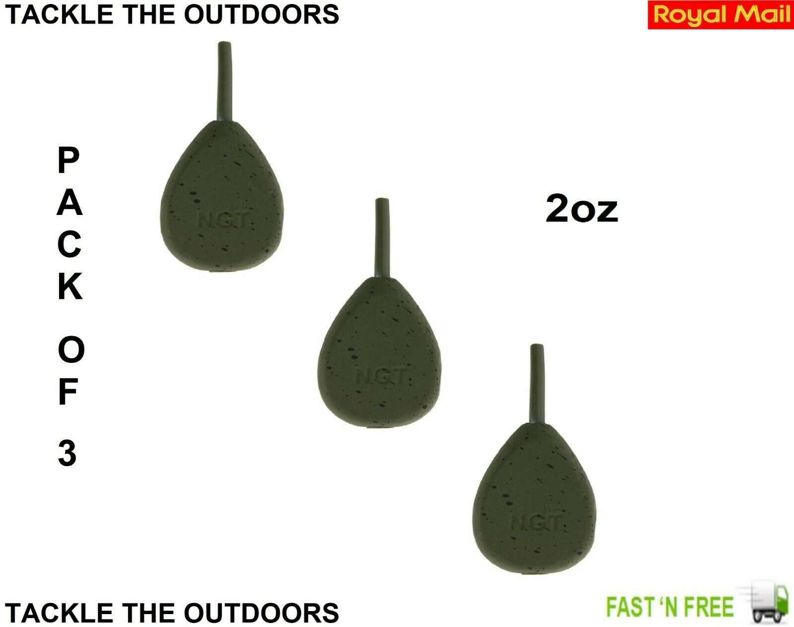ngt flat pear lead weights 2.oz choose from x 1 to x 10