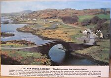 Scottish Postcard CLACHAN BRIDGE Easdale Sell Argyll Scotland Hail Caledonia 4x6