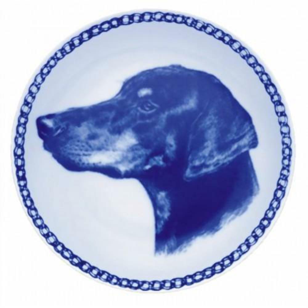 Dobeman Pinshcer  Dog Plate made in in in Denmark from the finest European Porcelain e9fcd7