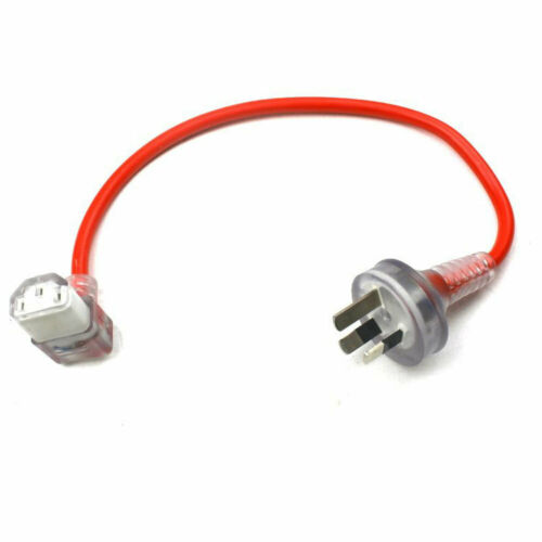 Mains Power Extension Lead Cable Standard Australian AU 3-Pin Plug 25cm Long