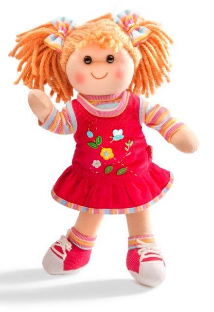 Mädchen-Puppe, klein Stoffpuppe Neli, ca. 32 cm