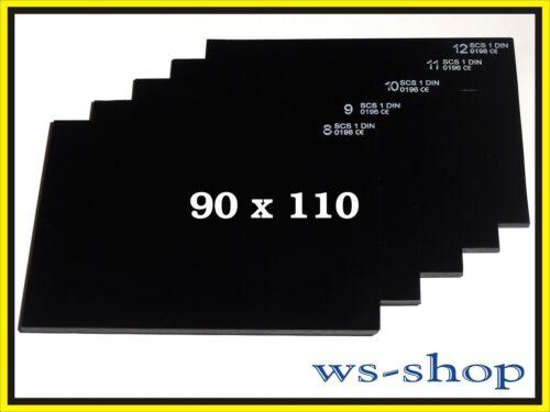 Vetro di Protezione Saldatura Coperchio in Pannello Schweißerglas 90x110 Din 9