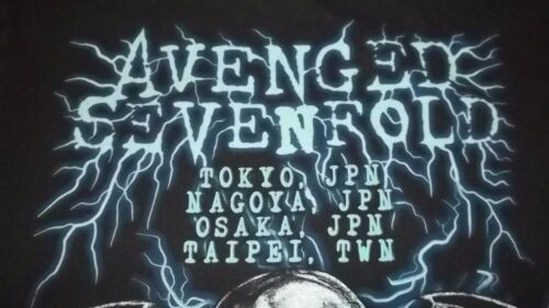 RARE Japan Overseas Concert Dates AVENGED SEVENFOLD Heavy Metal