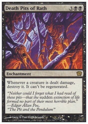 8th Edition Rare FOIL Presque comme neuf * MTG 1x Death Pits of Rath