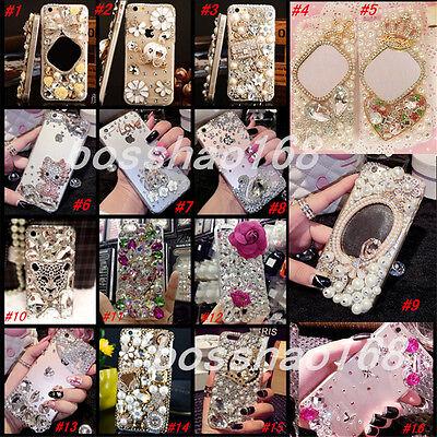Glitter Luxury Bling Diamonds Crystal hard Back PC Case Cover Skin For Huawei-2