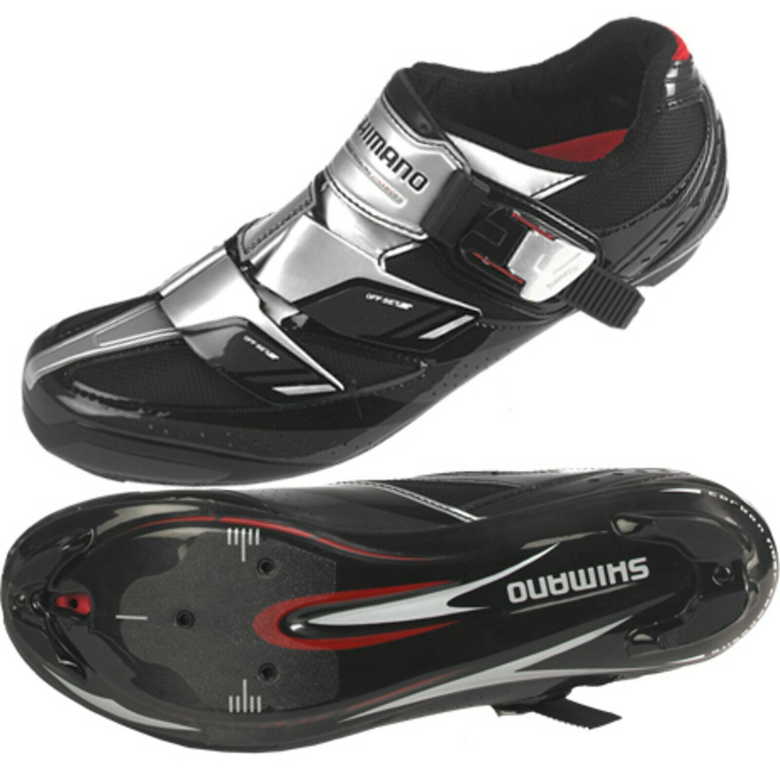 Shimano Elite Racing Zapato De Ciclismo SH-R191L Negro Plateado EU 42 US 8.3