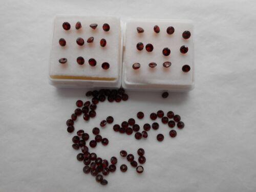 3mm round red natural garnet gemstones 2 stones £1.25.