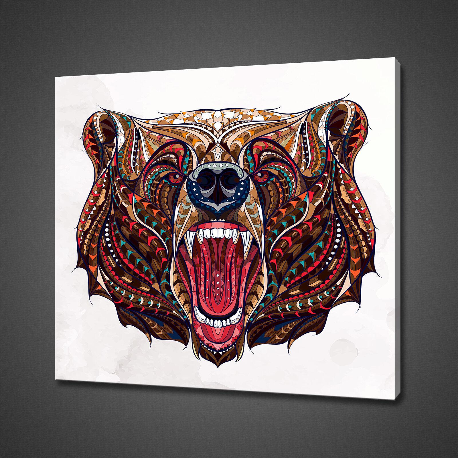 Résumé Bear Photo sur toile Imprimer Wall Art Home Decor livraison gratuite