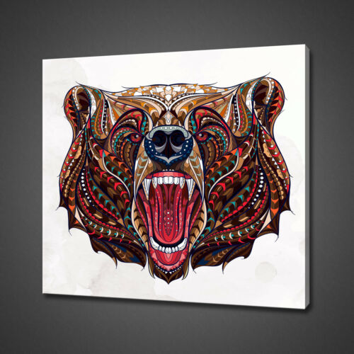 ABSTRACT BEAR CANVAS PICTURE PRINT WALL ART HOME DECOR FREE DELIVERY