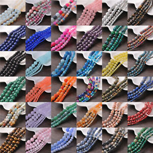 New-Wholesale-Making-Natural-Gemstone-Round-Spacer-Loose-Beads-4MM-6MM-8MM-10MM