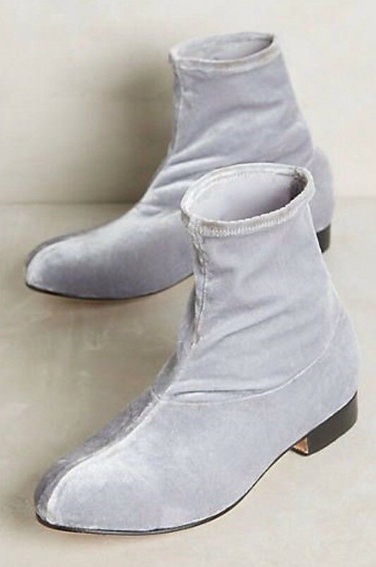 Anthropologie The palatines Firmo Velvet Ankle Boots Grey 7 Retails  438.00