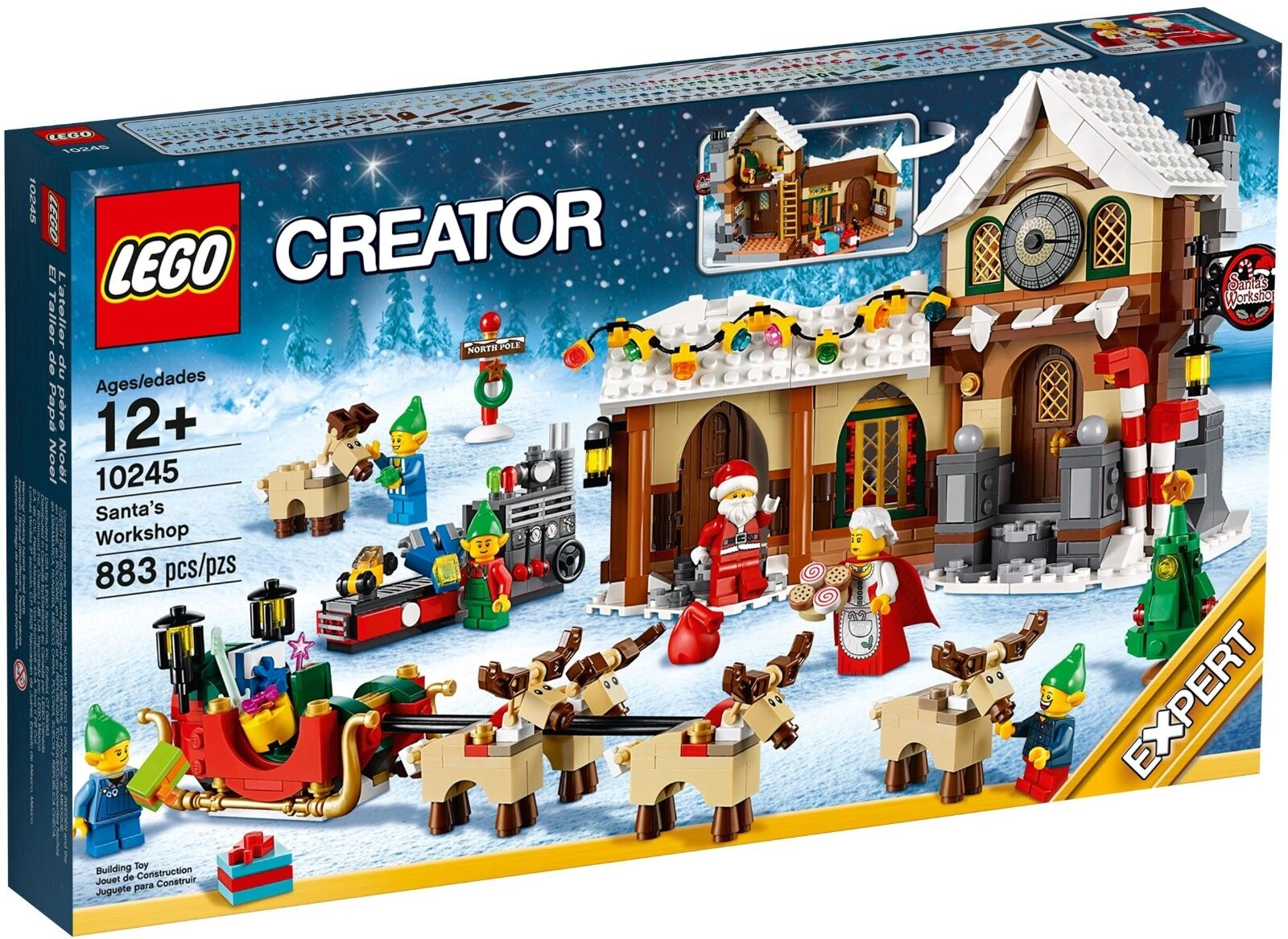 LEGO SANTA'S WORKSHOP 10245 WINTER, HOLIDAY  *BRAND NEW, SEALED* FAST SHIPPING