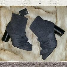 ZARA high heel boots with front bow detail Grey Size 6 US 36 EUR