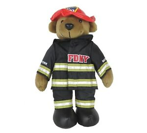 28775dad6be Teddy Bear Plush Toy Doll FDNY Fire Department of New York City 13.5 ...