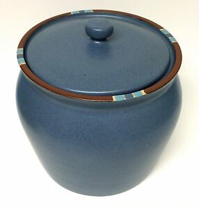 Dansk Mesa Blue Large Flour Canister Container Jar With Lid | eBay